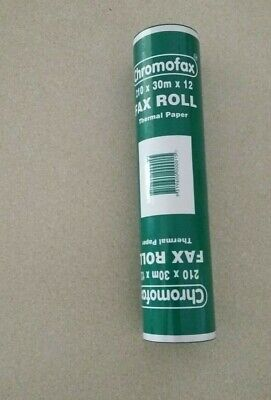 Chromofax Fax roll 210 x 30m x 12 thermal paper        BRAND NEW IN PACK