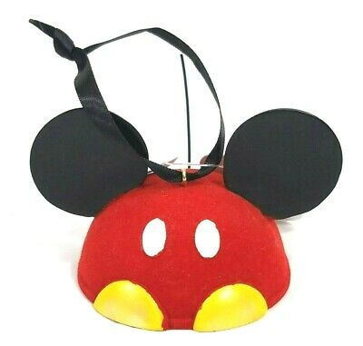 Disney Parks Mickey Mouse Soft Red Ear Hat Ornament Classic Tail New Alex Maher