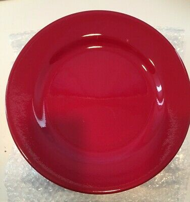 """Waechtersbach Germany Red Dinner Plate 11"""" NOS  may have minor stacking marks"""