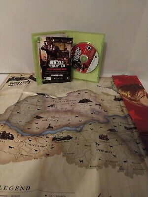 Red Dead Redemption (Microsoft Xbox 360, 2010) With map Free Shipping