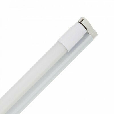 Kit Tube LED T8 Nano PC 1200mm 18W 130lm/W + Réglette