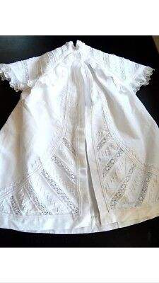 Handmade Antique French Christening Gown Cape for Boy or Girl. Vintage.