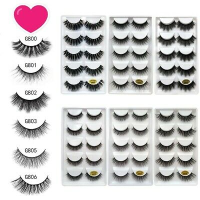 AU! 15Pairs Mink Natural Thick False Fake Eyelashes Eye Lashes Makeup Extension