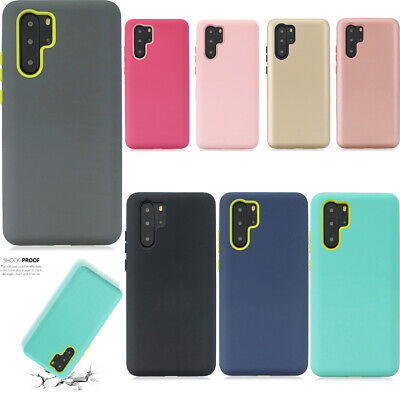 Pure Color Three-in-one Shockproof PC+Silicone Back Case Cover For Samsung