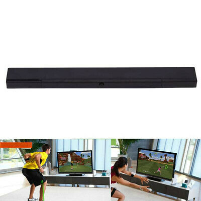 Sensor bar for Wii / Wii U Wii Nintendo Wireless LED Infrared Ray Motion - Black