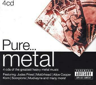 Various - Pure...Metal CD (4) Sony Music NEW