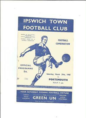 Ipswich Town Res v Portsmouth Res 1957/58