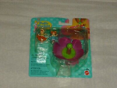 Vintage 1998 Polly Pocket Totally Flowers Spinner Carousel Playset New