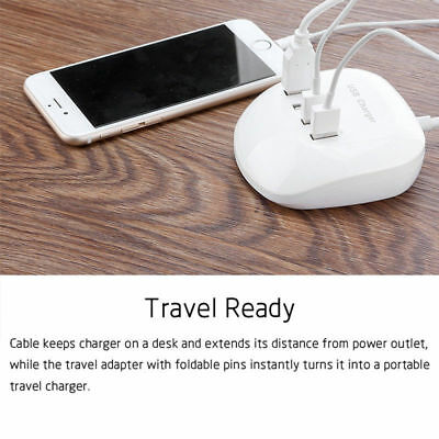 4 Multi Port 3.4A 77W USB HUB Desktop Wall Charger Fast Charging Station Adapter