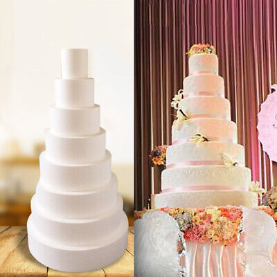 Party DIY Practice Model Cake Round Foam Mould Dummy Party Decoration Accessory