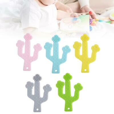 Baby Teether Kid Food Grade Silicone Pacifier Teething Chew Plant-shaped Toy