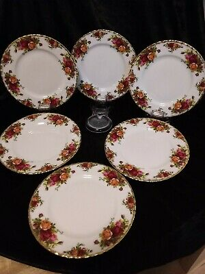 Royal Albert Old Country Roses Side Plates Set Of 6.