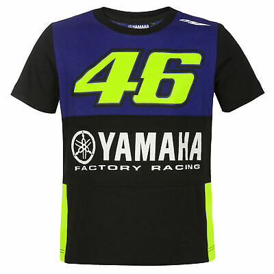 2019 Valentino Rossi VR46 Kids T-Shirt Childrens Boys Tee Yamaha Factory Racing