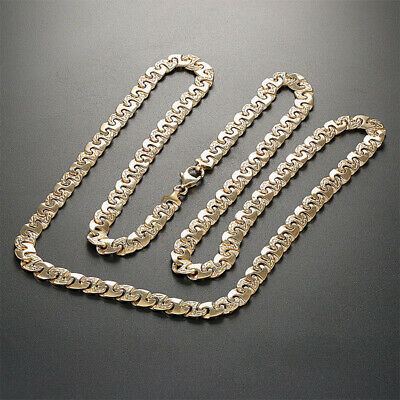 """NEW Heavy 9ct Gold Large Anchor Chain 7mm - 40G - 26.25"""" RRP £1630 {B30_26_A}"""