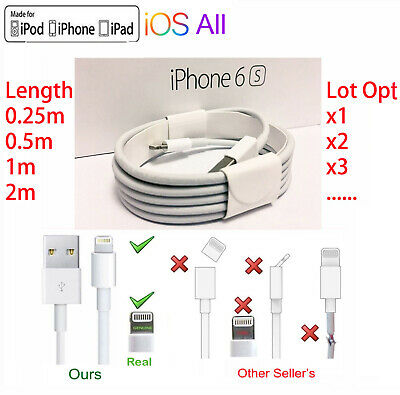 OEM Lightning Sync &Charger USB Data Cable For Apple iPhone X 8 7 6 iPad Air Lot