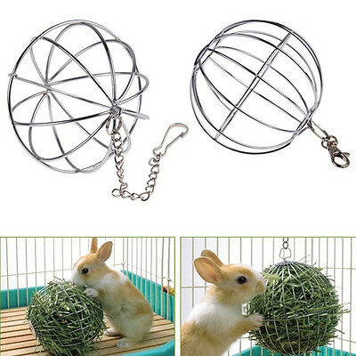 Cute Sphere Feed Dispense Exercise Hanging Hay Ball Guinea Pig Hamster Pets Toys