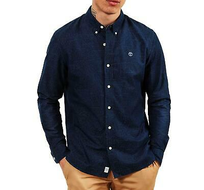 Timberland Tioga River Text Chemise Pour Homme Bleu Tb01A1Nkwb68