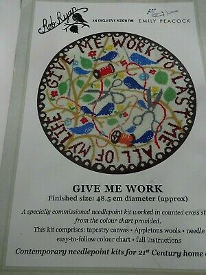Emily Peacock tapestry needlepoint sewing kit Give Me Work NEW UNUSED
