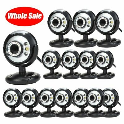 LOT 1-100 Night Vision USB 2.0 6 LED Web cam Camera With Mic For PC Laptop TO