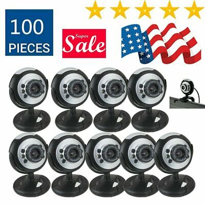 Lot Night Vision USB 6 LED Camera Webcam plus MSN, ICQ For PC Laptop Computer TO