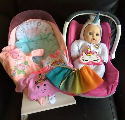 Baby Annabell Doll Joblot Bundle Bed And Carrier And Clothing