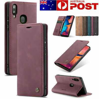 For Samsung Galaxy A20 A30 A50 A70 M10 Case Leather Magnetic Wallet Case Cover