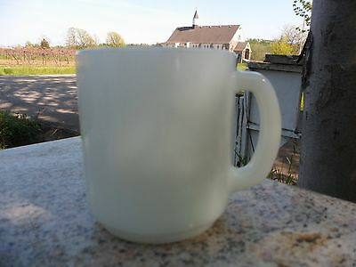 Vintage Termocrisa White Milk Glass Coffee Mug Cup Mexico Retro