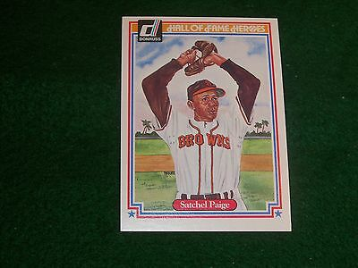 """satchel paige  (st. louis browns-p)  1983 donruss """"hall-of-fame heroes"""" CARD #11"""