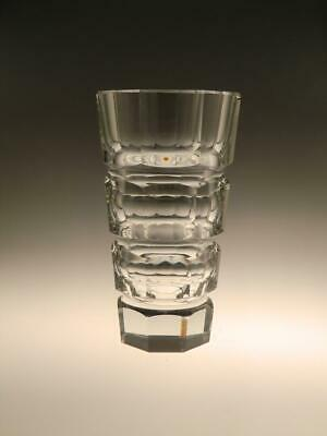 Art Deco Crystal Clear Cut Glass Vase by Moser - Czech Bohemian - Faceted
