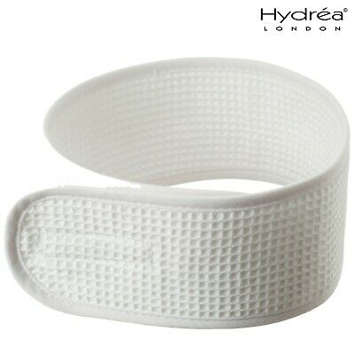 Hydrea Professional White Waffle Cotton Head band For Spa and Make-Up Regimes