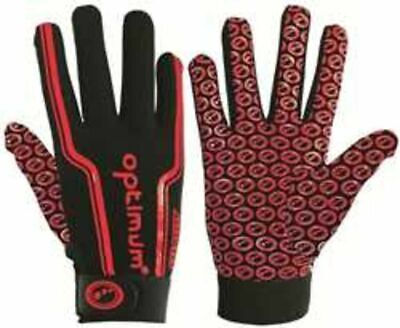 Optimum Velocity Full Finger Mitts Hand Protection Rugby Gloves Stik Mitts Red