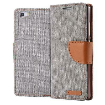 Phone Case Book Cover Wallet for  Huawei P8 Lite (2015) Grey