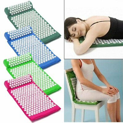 6 Colors Acupressure Massage Acupressure Mat and Pillow Relax Stress Pain Relief