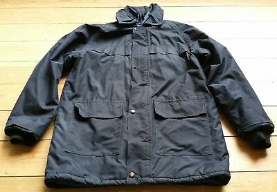 """John Lewis Blue Jacket/Coat/Anorak S/M Age 11-13 Pit to Pit 21"""" Hood, Quilted GC"""