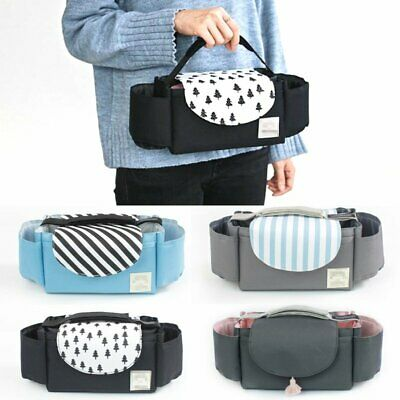 Pram Pushchair Stroller Accessories Buggy Cup Bottle Holder Organiser Bag WT
