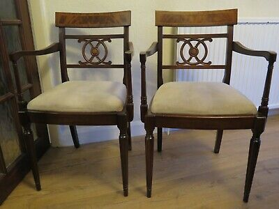 2 Mahogany Georgian Dining Chairs (reproduction)