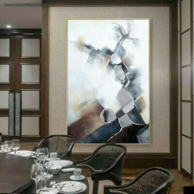 VV413 100%Hand-painted Modern large abstract oil painting on canvas frameless
