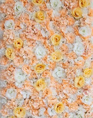 Artificial Flower Wall Panels Rose Hydrangea Wedding Background Decor-champagne