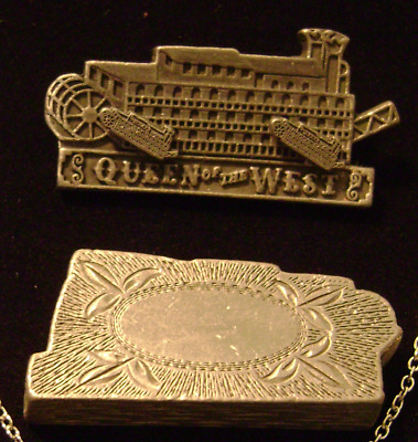 Rare American Steam Paddle Boat Queen Of The West Ship Vtg Estate Jewelry Set Lb