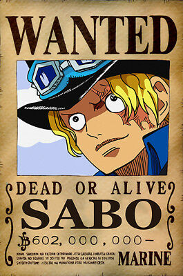 One Piece WANTED Poster (A3: 27 x 41 cm)  – SABO