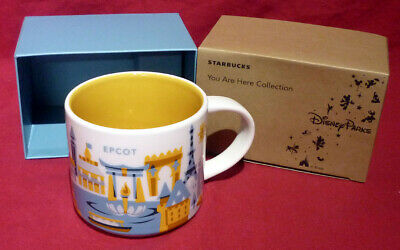 DISNEY Parks EPCOT 3rd Version STARBUCKS You are Here MUG - NEW IN BOX