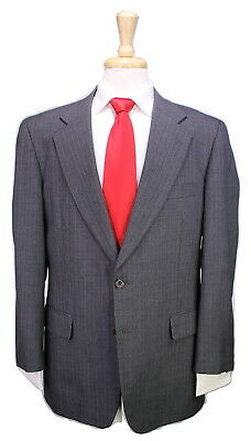 * PAUL STUART * Japan Gray w/ Gold Pinstripes 2-Btn Luxury Wool Suit 40R