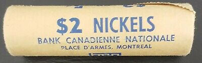 Canada  Nickels 1969 Unc., 1 roll of 40 from The National Bank Of Canada