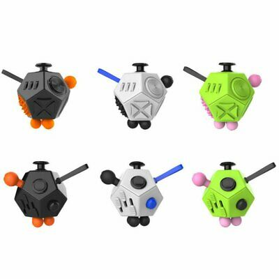 12-Side Magic Fidget Cube Anti-anxiety Adult Stress Relief Focus Kid Toy Gift WT