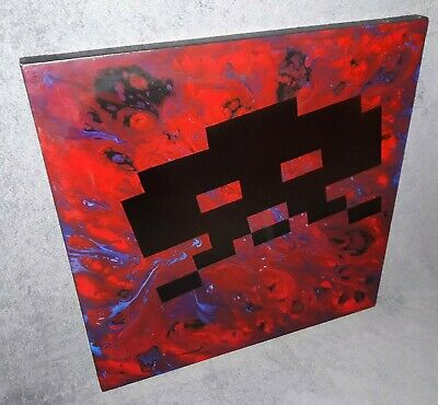 Abstract Space Invader Art Acrylic Skull Painting Free Invader Shirt Offer