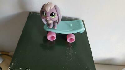 Lps Littelest Pet Shop Double Rider Skateboard With French Lop Bunny, Green/Pink