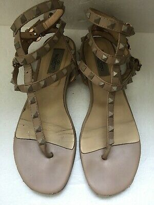 c8f3d82d46f VALENTINO ROCKSTUD NUDE Clear Lucite Ankle Strap Sandals, 36, $1045 ...