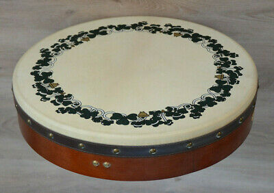 Bodhran Shamrock Design Traditionell Irisches Schlagzeug +tipper.