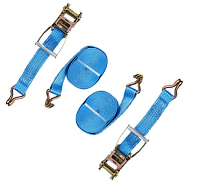 4 meter x 50mm Blue Ratchets Tie Down Straps 5 tons Lorry Lashing