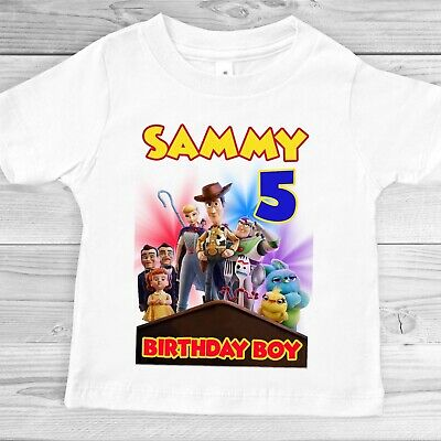 TOY STORY FAMILY BIRTHDAY IRON ON TSHIRT TRANSFERS PERSONALISED  LOT TY